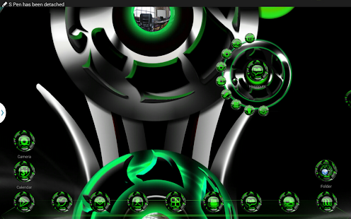 Next 3D Theme Green Twister