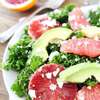 Kale Salad with Citrus, Avocado, and Feta.