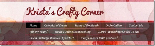 Krista's Crafty Corner blog- 0ct 2012