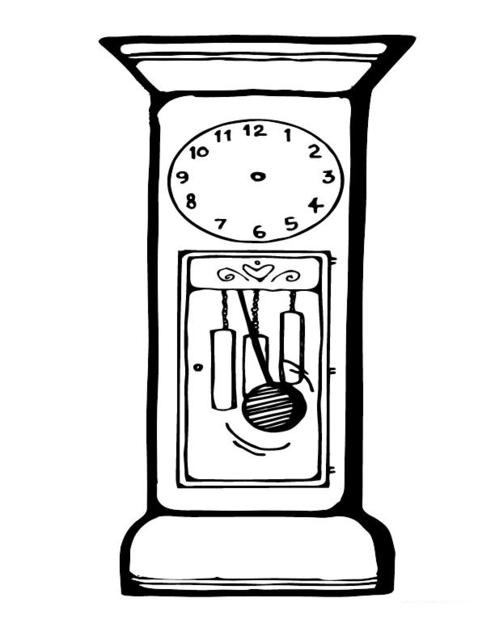 Dibujo De Reloj Para Colorear