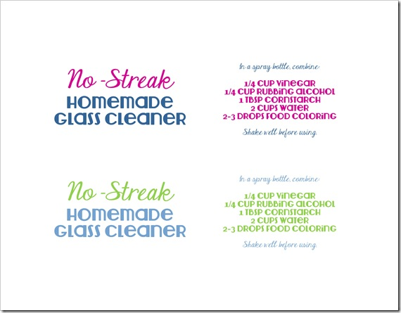 no-streak glass cleaner labels-page-1