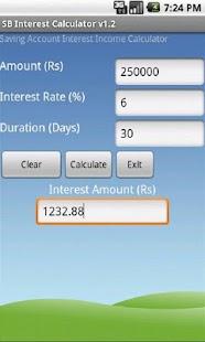 SB Interest Calculator- screenshot thumbnail