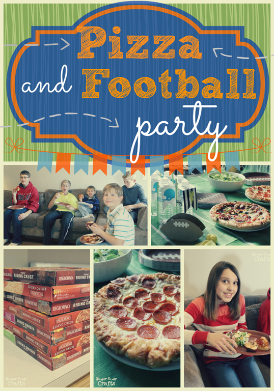 Pizza & Football Party Ideas at GingerSnapCrafts.com #gamedaygoodies #cbias #shop