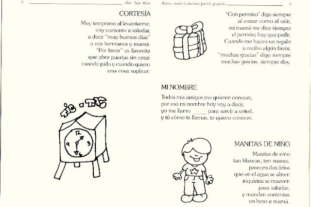 RIMAS INFANTILES RIMAS PARA NIÑOS PARA COLOREAR