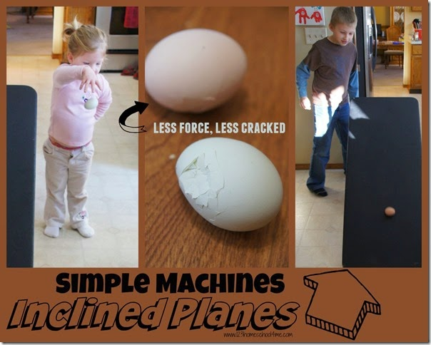 Simple Machines - Inclined Planes Egg Experiment for Kids