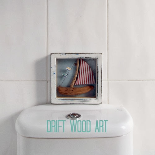 bathroom before house to home makeover drift wood art