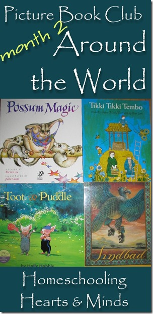 Picture Book Club Around the World free resource and notebooking pack from Homeschooling Hearts & Minds