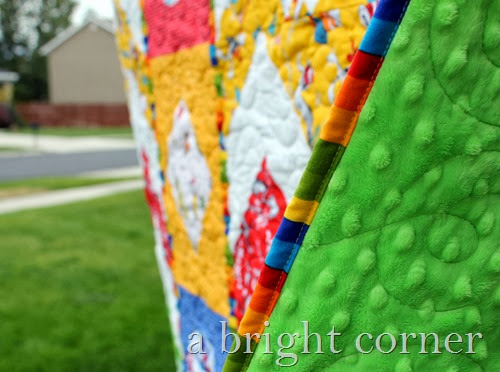 Quilt with a minky backing