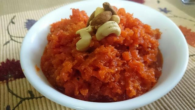 pressure cooked quick gajar ka halwa