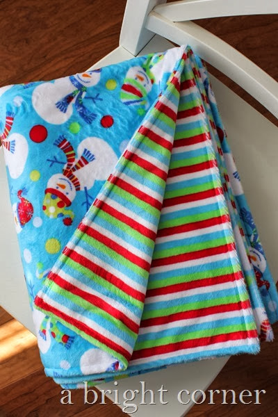 Double sided minky blanket from A Bright Corner