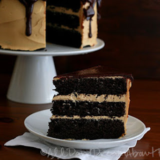 Dark Chocolate Peanut Butter Layer Cake – Low Carb and Gluten-Free.