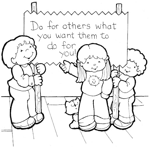 graphic regarding Golden Rule Printable identified as THE GOLDEN RULE COLORING