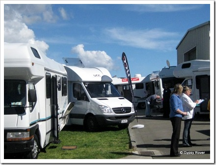 Motorhome show at Pacific Motorhomes, Plimmerton.