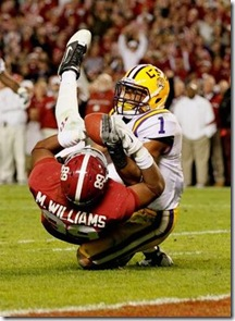 Williams reception Bama LSU comment pic