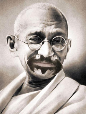 bat-stache Gandhi