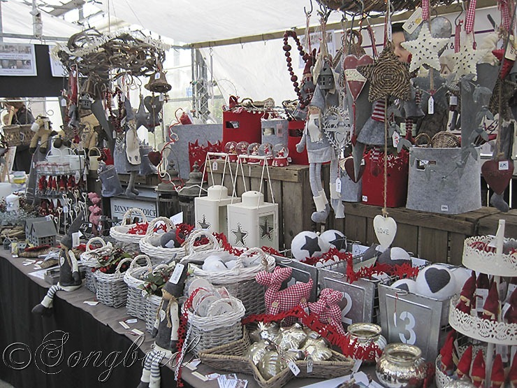 Grey and Red Christmas Decorations