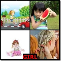GIRL- 4 Pics 1 Word Answers 3 Letters