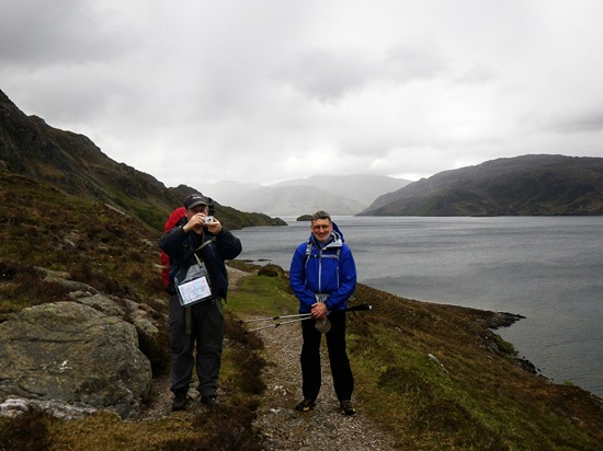ANDY'S PICCY OF DAVE & ME, LOCH MORAR