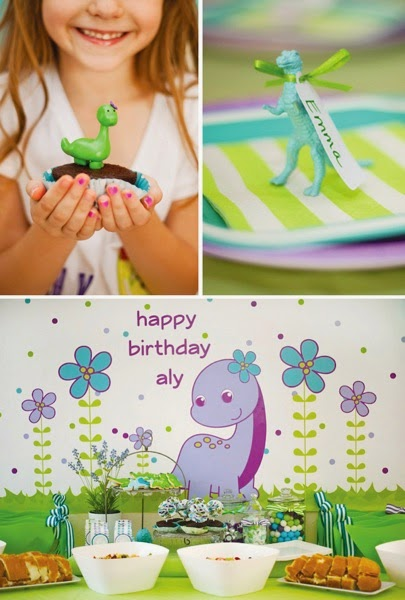 Girly dinosaur party