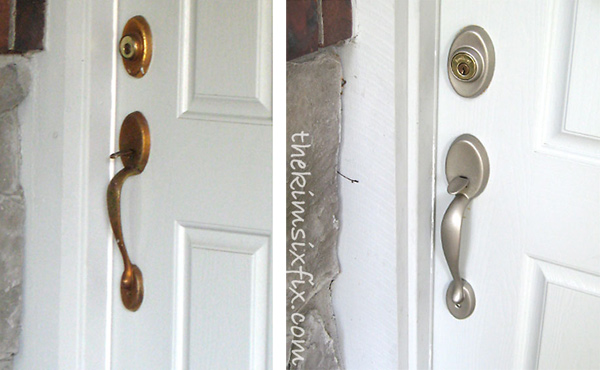front door hardware. Wonderful Door Spray Painted Inside Front Door Hardware B