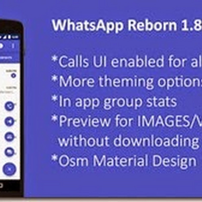 WhatsApp+ Plus ReBorn 1.80 Antiban