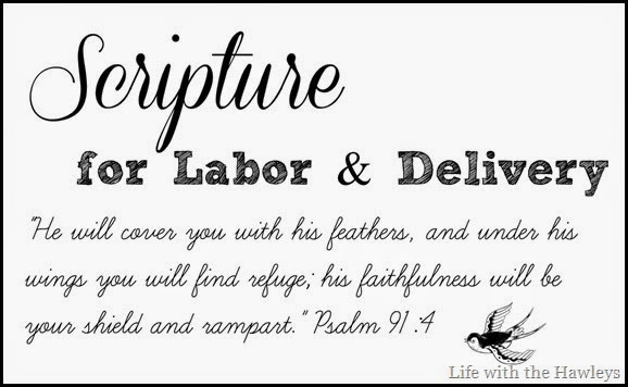 Scripture for Labor and Delivery
