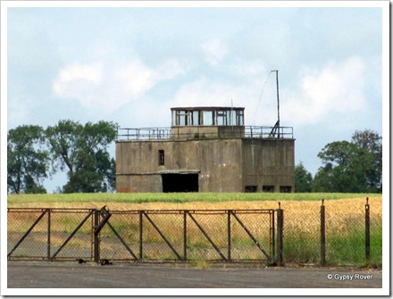 RAF East Fortunes control tower looking a bit forlorn.