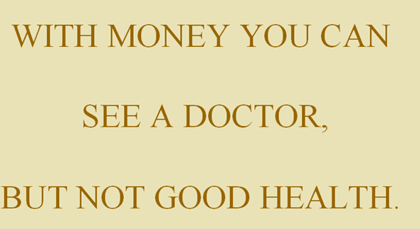 money and health corelation