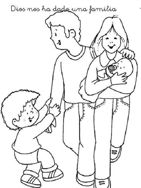 Colorear Dibujos De La Familia