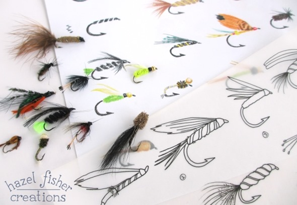 2014 July 08 fishing fly drawing