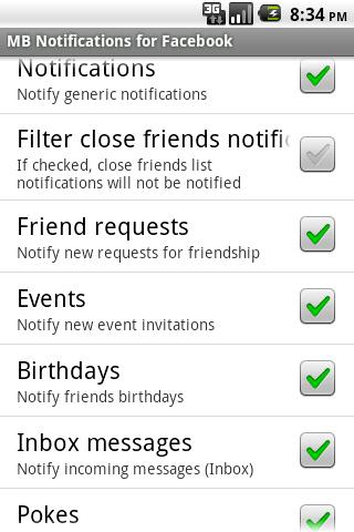 MB Notifications for Facebook- screenshot
