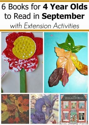 September Book Picks for 4 year olds with extension activities