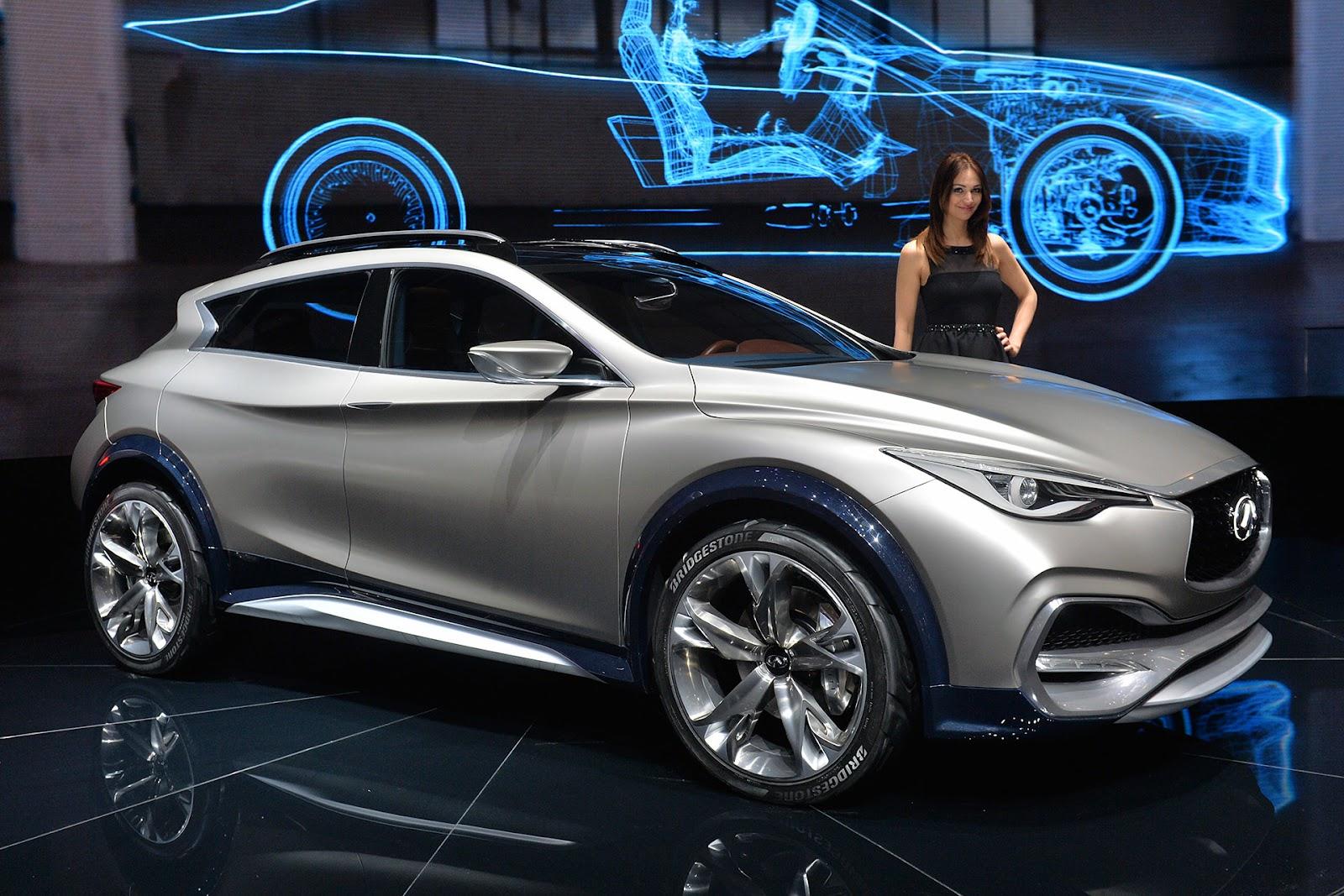 Infiniti, yeni kompakt crossover'ı QX30 Concept'in dünya ...