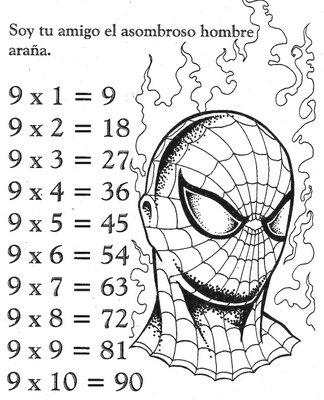 Las Tablas De Multiplicar De Spiderman