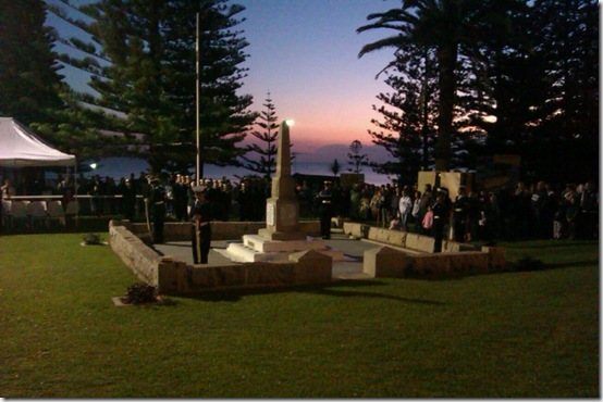 Southe West Rocks Dawn Service 2013