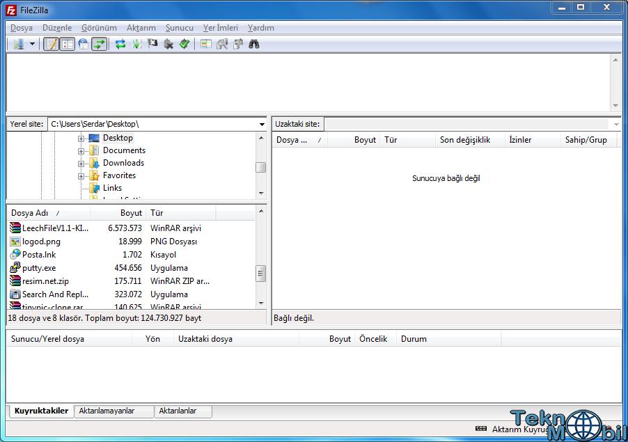FileZilla v3.8.1 Türkçe