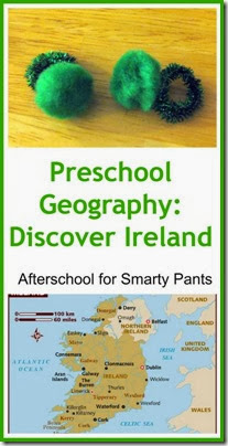 Learn about Ireland for St Patrick's Day Through Books and Crafts from Afterschool for Smarty Pants (learningwithmouse.blogspot.com)