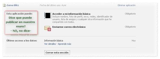 Aplicaciones de Facebook, permisos