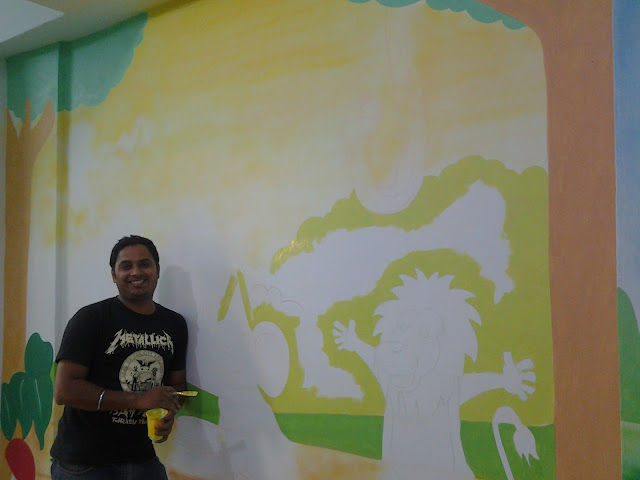 PRE- SCHOOL CLASSROOM WALL MURALS / THANA / MULUND /GHATKOPER