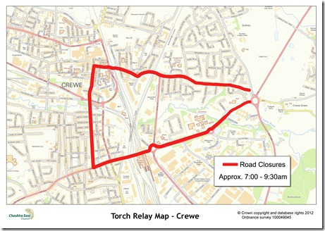 Crewe closure map