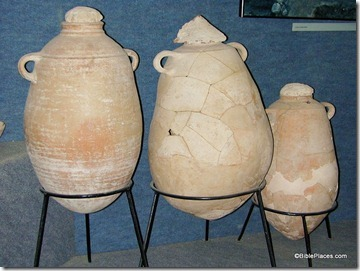 Olive oil jugs at Ekron Museum, tb031500014