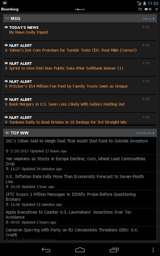 Bloomberg Professional - screenshot