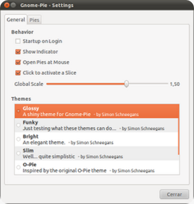 Gnome-Pie - Settings