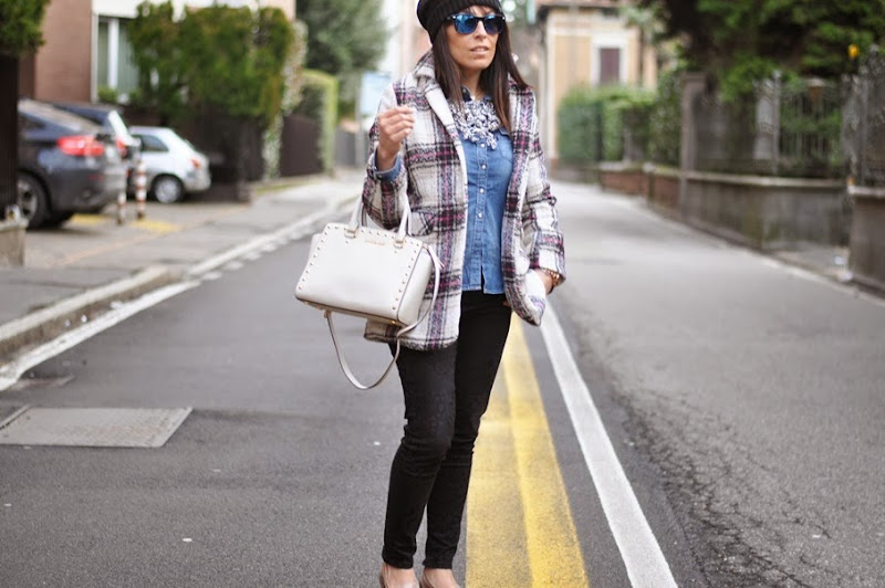 outfit, tartan, mood tartan, the north face, italian fashion bloggers, fashion bloggers, street style, zagufashion, valentina coco, i migliori fashion blogger italiani