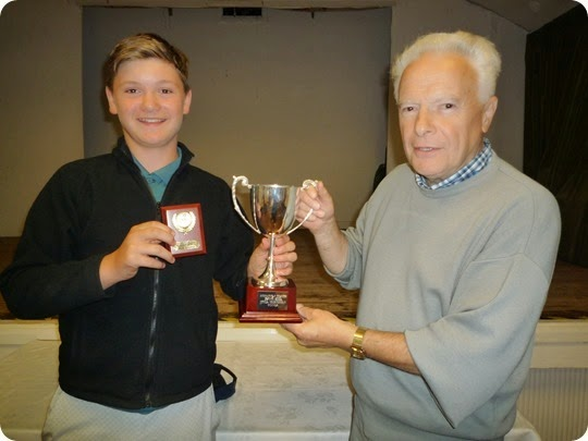 Junior Singles winner Jack Whalley with Bill Heath WJTC Chairman