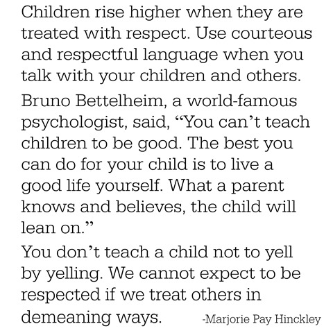 children and respect -- hinckley