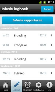 Helo! - Hemofilie logboek - screenshot thumbnail