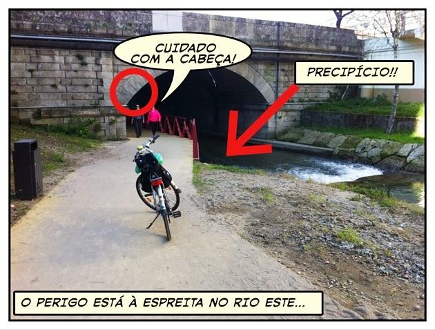 O perigo está à espreita no Rio Este...