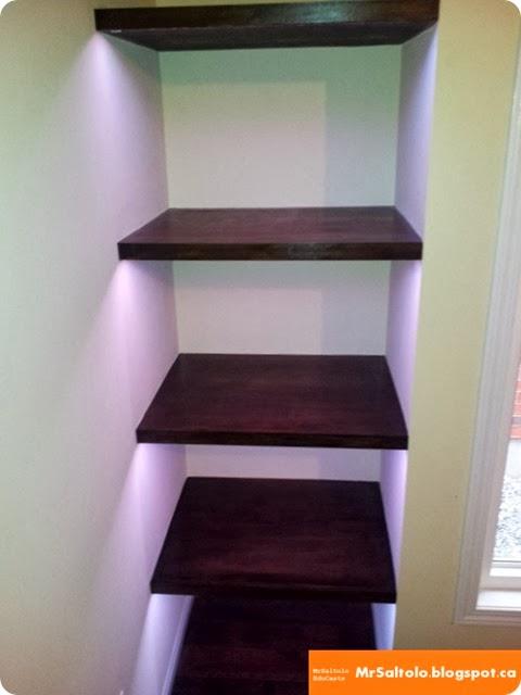 Completed Floating Shelf