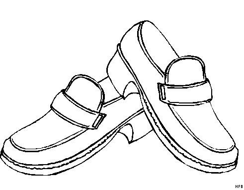 Zapatos De Hombre Para Colorear